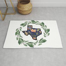 Blue Texas Wreath Rug