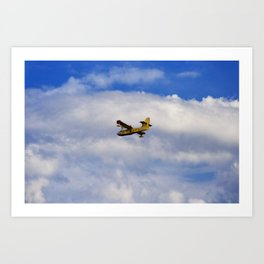 Flying Against The Wind Art Print