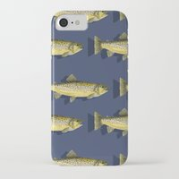 trout iPhone & iPod Cases featuring Brown Trout by Trinity Mitchell
