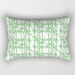 Bamboo Rainfall in White/Sullivan Green Rectangular Pillow