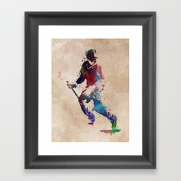 Lacrosse player art 3 Framed Art Print