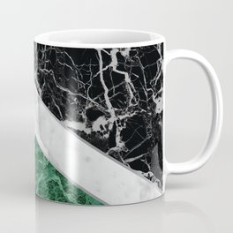 Arrows - Black Granite, White Marble & Green Granite #412 Coffee Mug