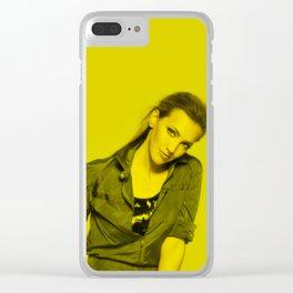 Katie Cassidy - Celebrity (Florescent Color Technique) Clear iPhone Case