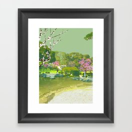 Ume Blossoms Framed Art Print