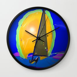 Above the waves in May - shoes stories Wall Clock