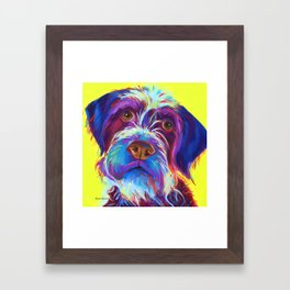 Wirehaired Griffon or Labradoodle Framed Art Print