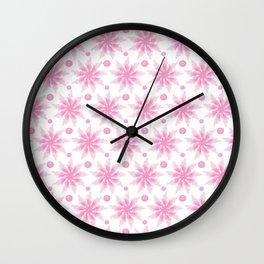 Bouquet from chrysanthemum, gerbera, watercolor, candy Wall Clock