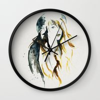 belle Wall Clocks featuring Belle by ne11amae