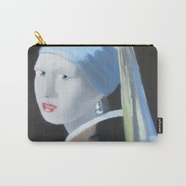 Vermeer Homage, Girl with pearl earring Carry-All Pouch