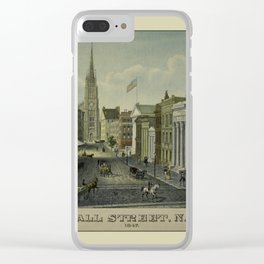 Wall Street 1847 Clear iPhone Case