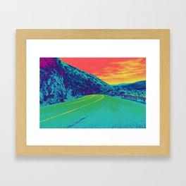 Techno Trail Framed Art Print