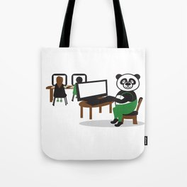 Panda Teacher Tote Bag
