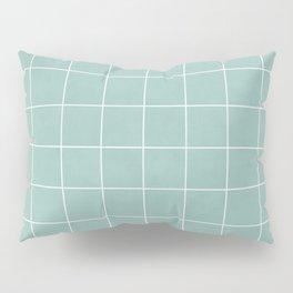 Small Grid Pattern - Light Blue Pillow Sham