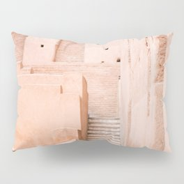 Colors of Marrakech Morocco - El badi palace photo print | Pastel travel photography art Pillow Sham