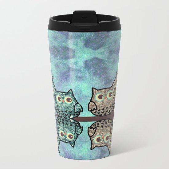 owl-99 Metal Travel Mug
