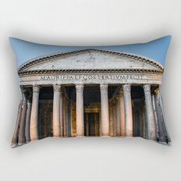 Pantheon holy temple at dawn - Rome, Italy Rectangular Pillow