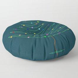 Christmas Tree Lights Floor Pillow