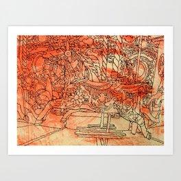 Corpus Christy Fair  Art Print
