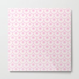 The pink boobies pattern Metal Print