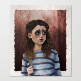 Nancy - Stranger Things Fan Art Canvas Print