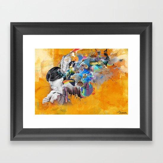 Floating Mind Framed Art Print