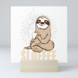 Sloth Slofee Mini Art Print