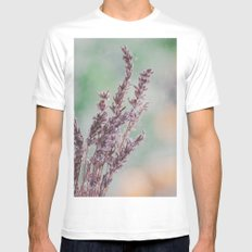 Lavender by the window MEDIUM White Mens Fitted Tee