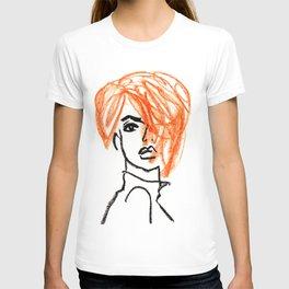 orange hair girl T-shirt