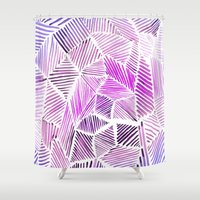 geo Shower Curtains featuring Geo by Alex Dehoff
