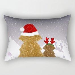 Cute Dogs Holiday Design Rectangular Pillow