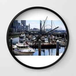 Boats on the water Wall Clock