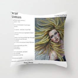 Dear Woman - Super Powers Throw Pillow