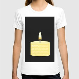 Happy Holidays Candle T-shirt