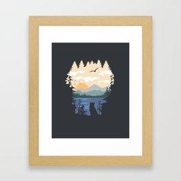 Mountain Lion Wilderness Framed Art Print