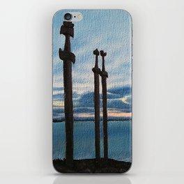 Three Swords - Stavanger Norway / Oil Painting iPhone Skin