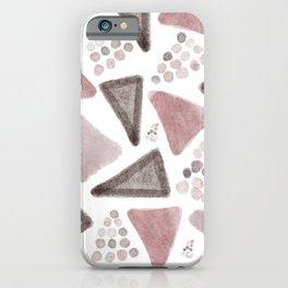 Irregular geos triangles iPhone Case