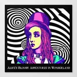 Purple Alice Vortex Canvas Print