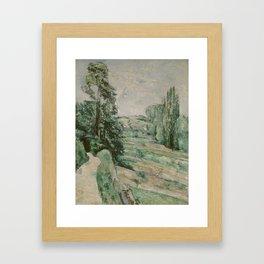 Paul Cézanne - La campagne d'Auvers-sur-Oise Framed Art Print