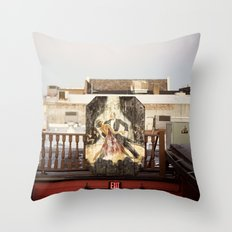 rooftop view::charleston Throw Pillow