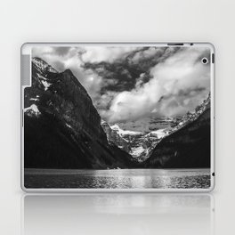 Lake Louise Black and White Minimalism Photography Laptop & iPad Skin