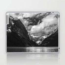 Lake Louise Black and White Minimalism Photography | Black and White | Photography Laptop & iPad Skin