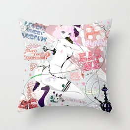 MAD ALICE: Lovely Sweet Dreams Throw Pillow