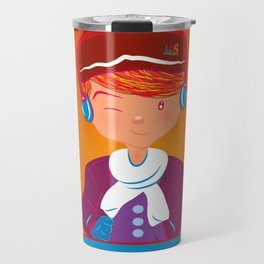 "Mikel AlfsToys say: ""Merry Christmas""  Travel Mug"