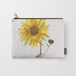 Sunflower Mid Century Botanical Carry-All Pouch