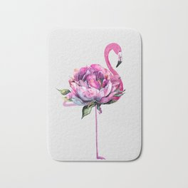 Flower Flamingo Bath Mat
