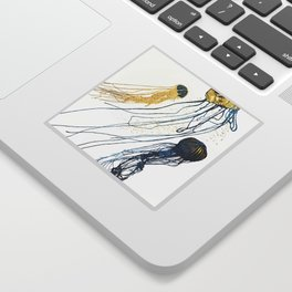 Metallic Jellyfish II Sticker