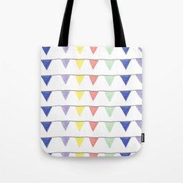 Cheerful pennants Tote Bag