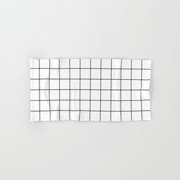 Grid Simple Line White Minimalistic Hand & Bath Towel