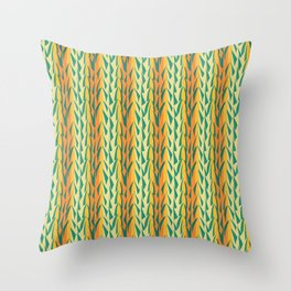 Tropical Vines Throw Pillow