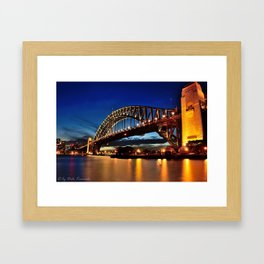 Looking West Beyond the Bridge Framed Art Print